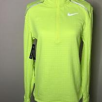 Nike Therma Sphere Element 3.0 Half Zip Running Jacket Volt Yellow Sz Small Nwt Photo