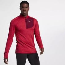 Nike Therma Sphere Element Long Sleeve Half-Zip Red Gym Running 857829 687 Sz L Photo
