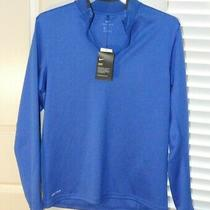 Nike Thermafit Element Blue L/s Quarter-Zip Running Sweater Size M Nwt 833282 Photo