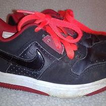 Nike Toddler Boys Athletic Sneakers Size 9.5c 325241-066  Black/red With Laces Photo