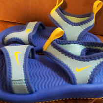 Nike Toddler Size 9 Sandals Water Shoes Blue Aqua Yellow Free Shipping Photo