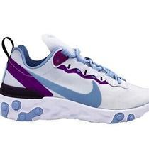 Nike W React Element 55 Sneakers Celeste Viola Bq2728-008 Photo