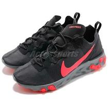 Nike Wmns React Element 55 Black Solar Red Women Running Shoes Bq2728-002 Photo