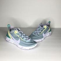 Nike Wmns React Element 55 Running Womens Shoes Ocean Blue Bq2728-301 Size 8 Photo