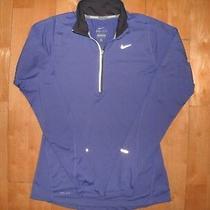 Nike Women Dri-Fit Athletic Element 1/4 Zip Purple Running Gym Fitness Jacket Xs Photo