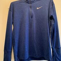 Nike Womens Element 1/2 Zip Running Pullover Blue/indigo Xs Photo
