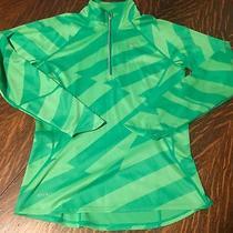 Nike Women's Element Half Zip Pullover  352148 313 Xs Green Photo