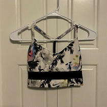 Nike Women's Indy Light Support Floral Print Sports Bra - S - Pre-Owned Photo
