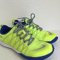 Nike Women's Lunar Cross Element Training Shoe Size 7.5 Neon Yellow Blue Photo