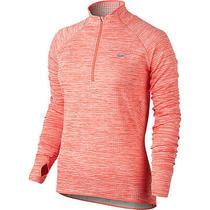 Nike Women's M Element Sphere Half-Zip Running/training Shirt 686963 696 Mango  Photo