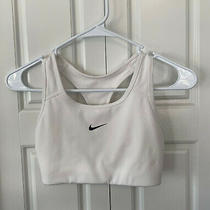 Nike Women's Medium Support Sports Bra - S - White - Pre-Owned (1 of 2) Photo