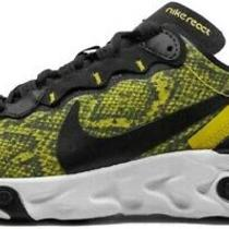 Nike Women's React Element 55 Speed Yellow Running Shoes Ct1551-700 Size 10.5 Us Photo