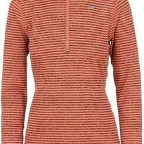 Nike Women's Size M Medium Elements Half Zip Lightweight Running Pullover Orange Photo