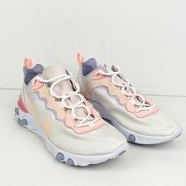 Nike Women's Sz 8 Pale Pink/coral Element 55 Running Shoes Bq2728 601  Photo