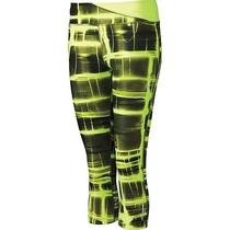 Nike Women's Twisty Printed Cropped Running Tights Size Xl 624271 60 Green Photo