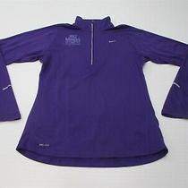 Nike Women Size M Dri Fit Half Marathon Purple Element Running Half Zip Pullover Photo