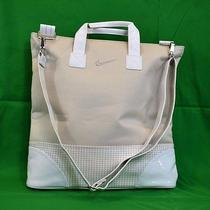 Nike Womens Golf Brassie Shoulder Shoe Tote Sports Bag Beige White Houndstooth Photo