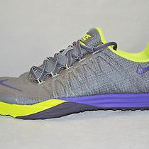 Nike Womens Lunar Cross Element Running Shoes Size 11.5 Cool Grey Grape Volt Photo