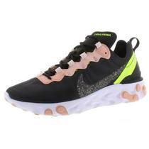 Nike Womens React Element 55 Black Mesh Running Shoes 8 Medium (Bm) Bhfo 7956 Photo