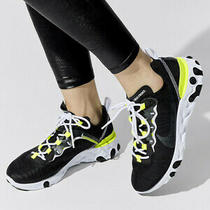 Nike Womens Sz 7 React Element 55 Se Sneaker Lemon Venom Cn3591 001 New 140 Photo