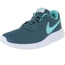 Nike Womens Tanjun Iced Green White Running Shoes Us Women's 8.5 Photo