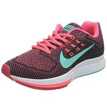 Nike Womens Zoom Structure 18 Running Shoes Punch/black/blue 683737-600 Us 6.5 Photo