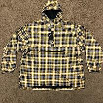 Nike Woven Cover Up Yellow Plaid Jacket Mens Ck4947-728 Size Xxl 130 Photo
