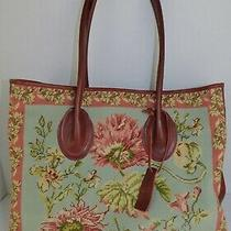 Nina Campbell for Katha Diddel Needlepoint Tapestry Tote Photo