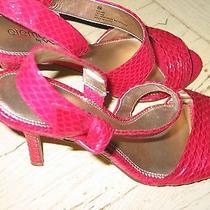 Nina Elements Strappy Heels Sz 8.5 Velma  Red for Valentines Day Photo