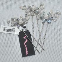 Nina 'Mercia' Swarovski Crystal and Fresh Water Pearl Hair Pins (Set of 3) Nwt Photo