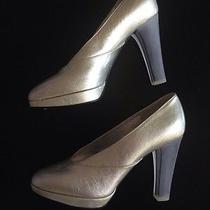 Nina Ricci Silver Gray Acrylic Metallic Pump 36 1/2 Margiela Celine Marni Miu Photo