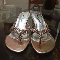 Nina Rose Gold Sandals Size 7 Photo