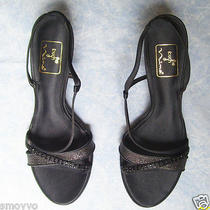Nina Sexy Black Strappy Heels Shoes Sz 8 Nwob Photo