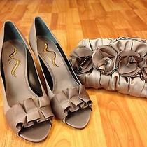 Nina Shoes and Lulu Townsend Purse  Taupe/bronze Matching Set Photo
