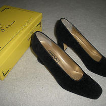 Nina the Touch Womens Shoes Black Fantasy Paisley Velvet Blanca 7.5 M Excellent Photo