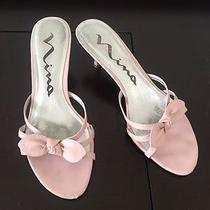 Nina Women's Blush Pink 2.5 Inch Heeled Sandals Size 7 Photo