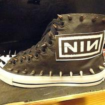 Nine Inch Nails Nin Metal Custom Studded Converse Womens Sneakers Shoes W Spikes Photo