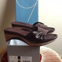 Nine West 6.5 Brown Leather Sandal Euc Photo