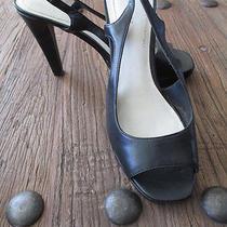 Nine West 9m Black Wn-Knickoff Black Leather Gently Worn Photo