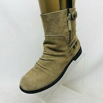 Nine West Beige Suede Slouch Ankle Fashion Boots Bootie Size 8.5 M Photo