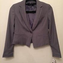 Nine West Blazer Suit Jacket Gray Pinstripe Womens Size 6 Photo