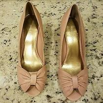 Nine West Blush Pink Low Wood Heel 7.5 Photo