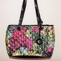 Nine West Bright Colored Purse Woman Satchel Summer Handbag Multi-Color Large Photo