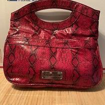 Nine West Evening Clutch Red Snake Skin Handbag Photo
