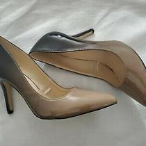 Nine West Ezra Pointy Toe Pumps  Women Heels Size 8  Black and Brown  Ombre Photo