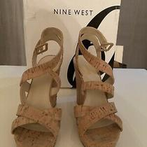 Nine West Fanny Cork Wedge Sandal Nib Sz 7.5m Photo