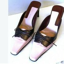 Nine West Genuine Leather Womens Shoes Slides Mule Sz 7 Made in Brazil Photo