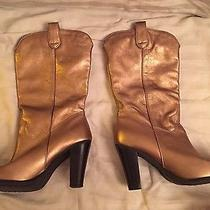 Nine West Gold Boots Photo