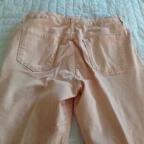 Nine West Gramercy Skinny Ankle Jeans Size 12 Light Blush Pink Tac Photo