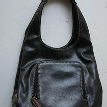Nine West Hobo Hand Bag Purse Tote Man Made Black Brown Fashion Accessory  Photo